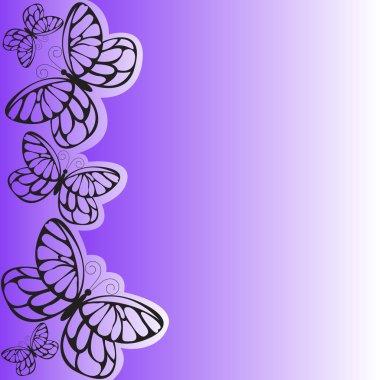 "Картина, постер, плакат, фотообои ""пурпурная бабочка "", артикул 3927123"