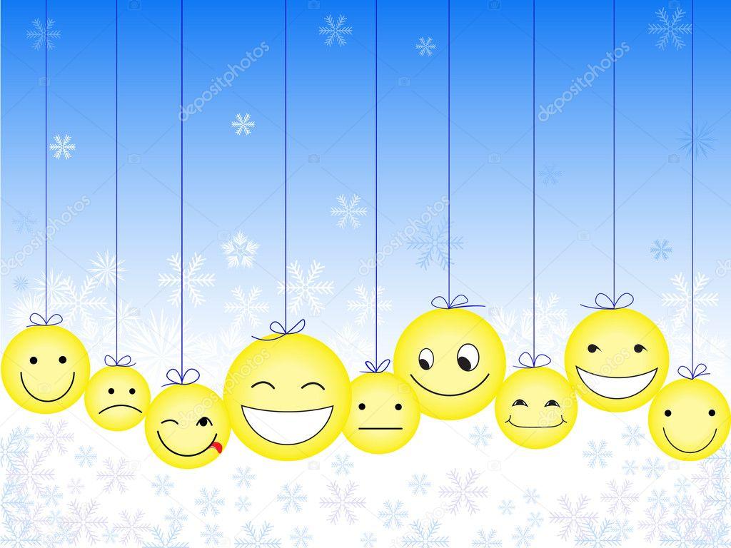 weihnachts smileys stockvektor needle 4249756. Black Bedroom Furniture Sets. Home Design Ideas