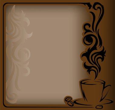 Antique coffee Frame