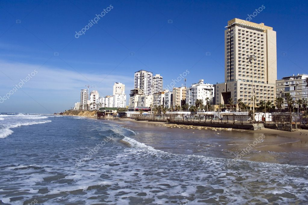 Sea coast and the view on Bat-Yam