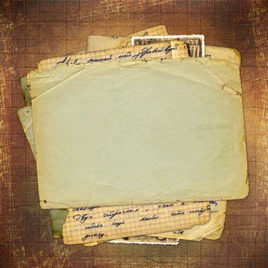 Abstract ancient brown background in scrapbooking style