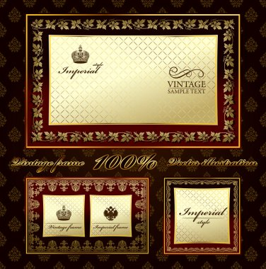Glamour vintage gold frame decorative ornament