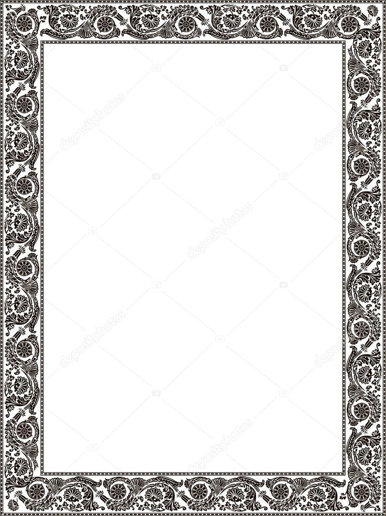 Imperial ornament colour framework flower decorative vintage - a