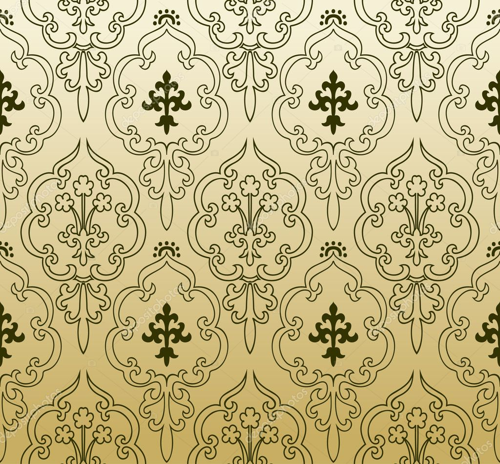 Seamless Wallpaper Gothic Vintage Abstract Background Stock