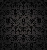 Photo Black Seamless floral Pattern