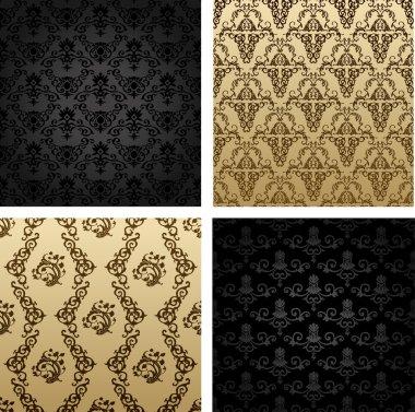 Vintage seamless background brown black baroque