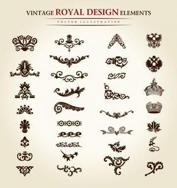 Flower vintage royal design element