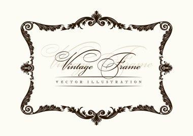 Vector vintage frame decor ornament