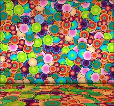 Vibrant Bubbly Background
