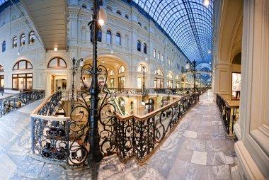 Interior of shopping center