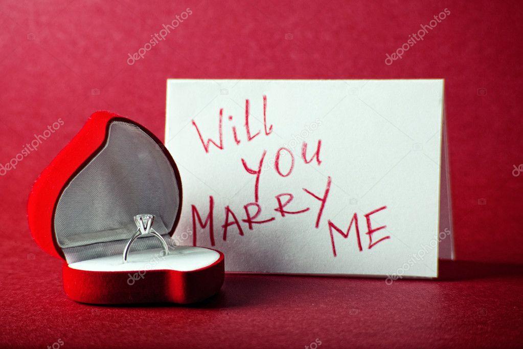 你能 跟我结婚吗 — 图库照片©JuliaSha#4220575