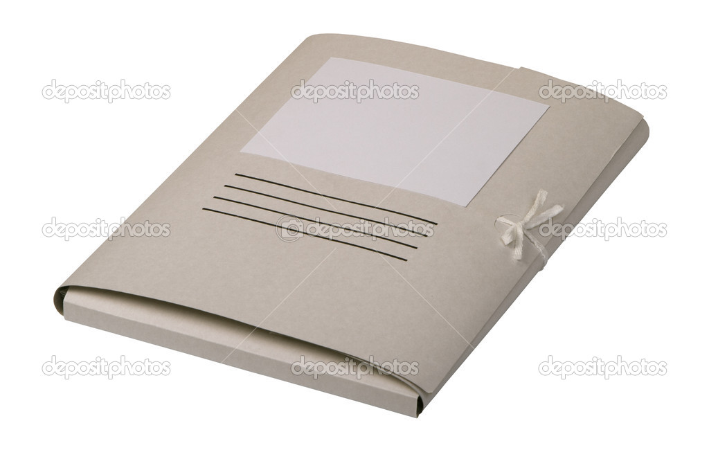 Closed paper folder for documents