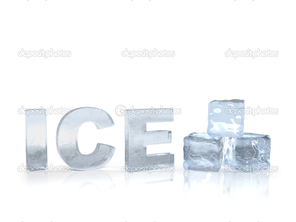 Frozen text ice with ice cubes — Stock Photo © lenin999 ...