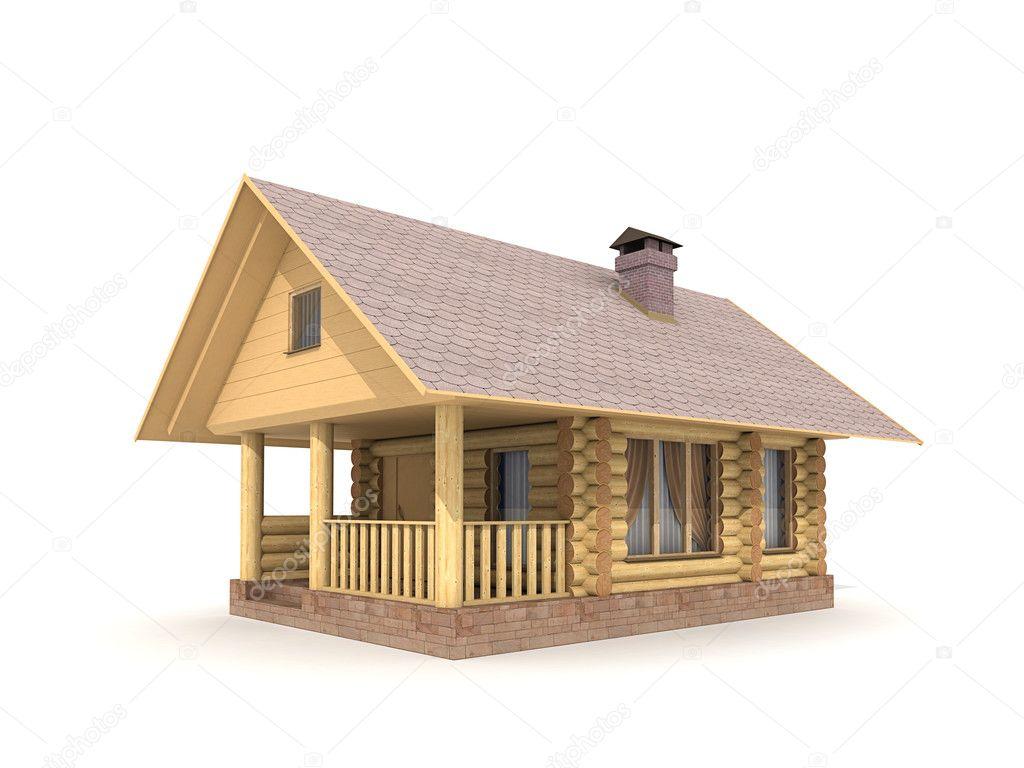 Holz Blockhaus — Stockfoto © lenin999 #5306351