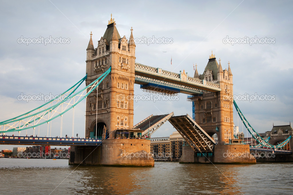 Tower Bridge with open gates