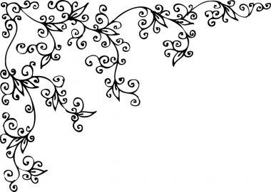 Refined Floral vignette CCII