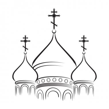 The Cathedral Domes with Crosses (Outline version)