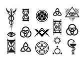 Fotografie Mystique Symbols set VI