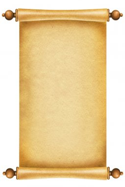 Old paper texture.Scroll background for design on white.