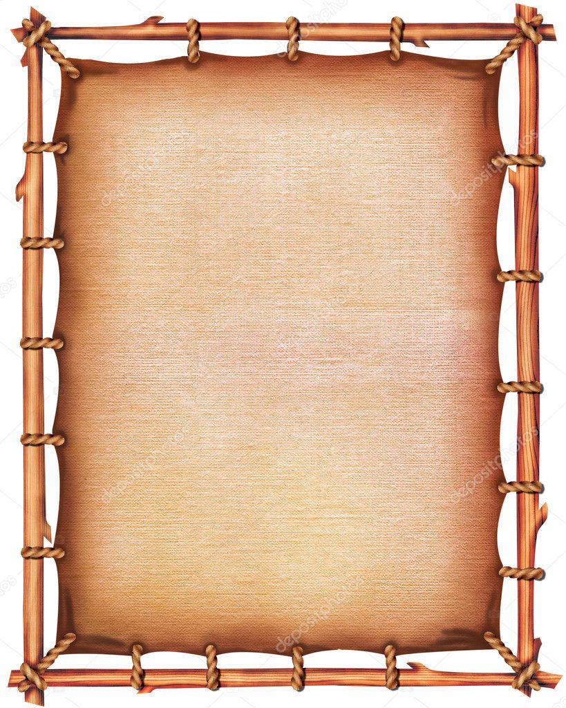 Papier auf Holz-Rahmen — Stockfoto © GeraKTV #4562326