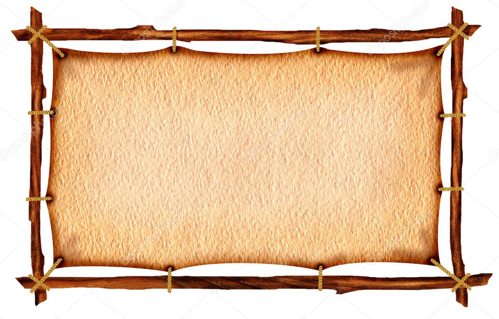 Papier auf Holz-Rahmen — Stockfoto © GeraKTV #4562328