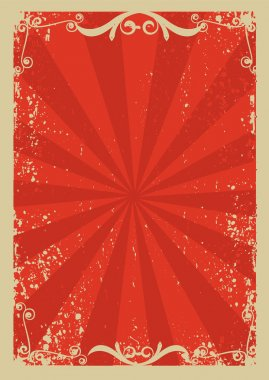 Red background with grunge elements decorationl .Retro image for