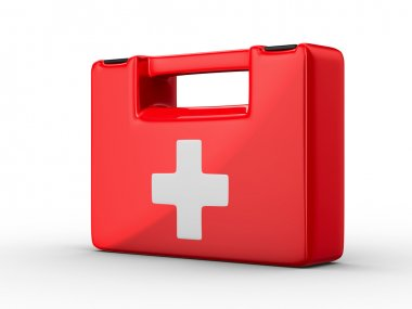First aid kit on white background. Isolated 3D image stock vector