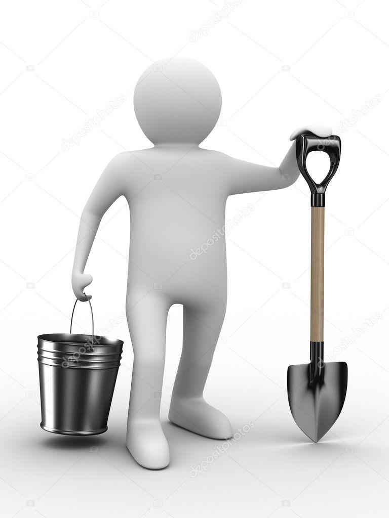 крымском человечек с лопатой картинка фото