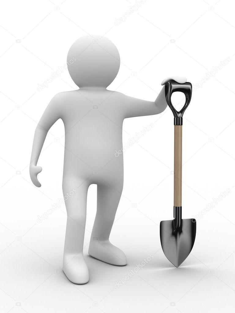 человечек с лопатой картинка том, как