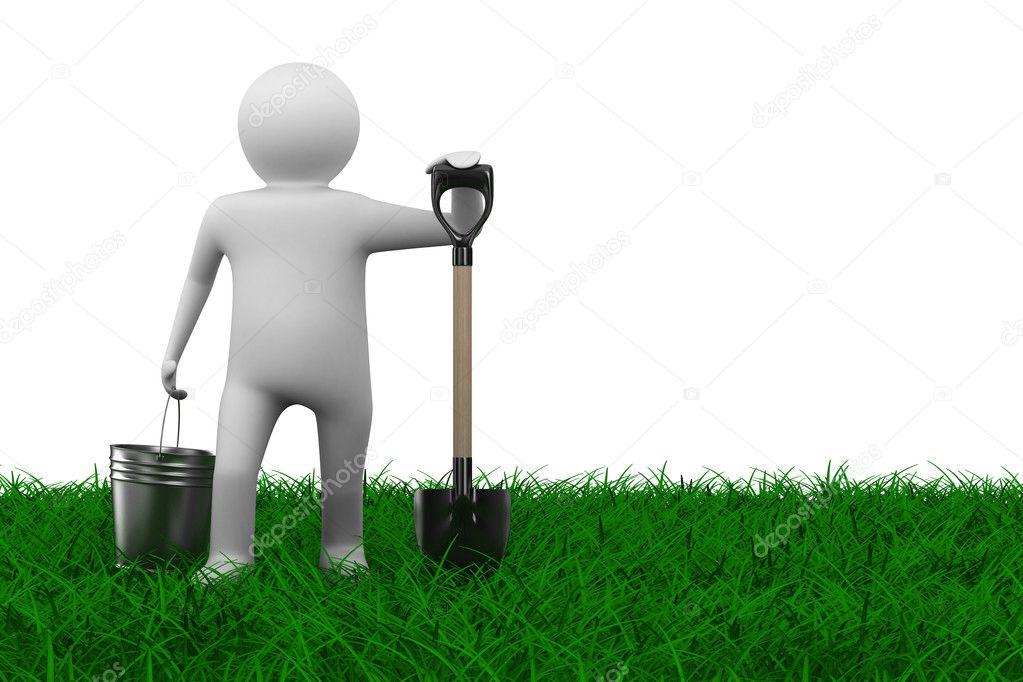 эффективная, человечек с лопатой картинка специально