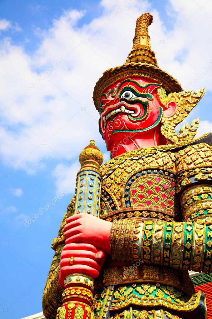 Guard statue