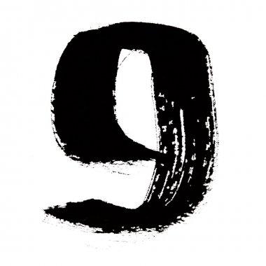 Black ink numbers