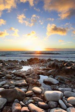 Beautiful sunset at Canary Islands