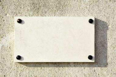 Blank marble signboard
