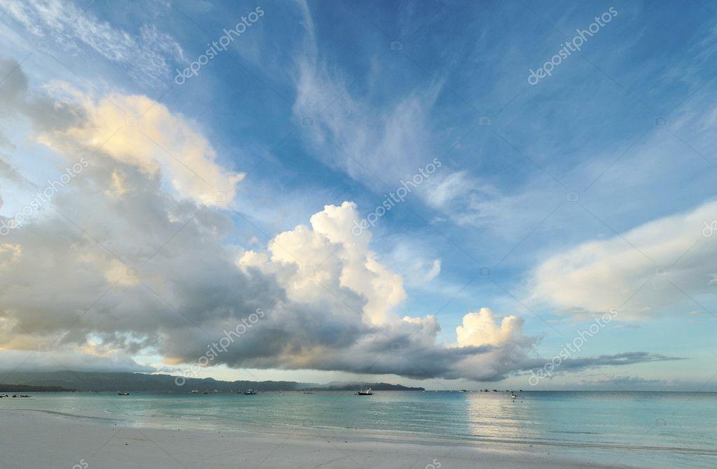 Sky above sea