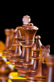 Koncept šachové figurky na šachovnici