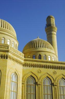 Modern mosque and minaret in Baku, Azerbaijan
