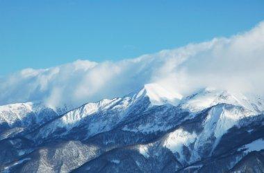 Mountains under snow in winter - Georgia, Gudauri