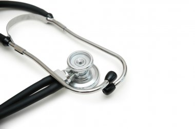 Medical Stethoscope isolated on the white backgroud