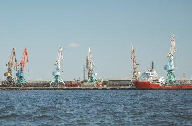 Seaport in Baku, Azerbaijan