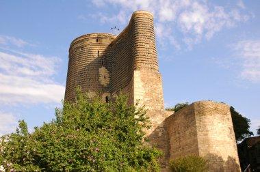 Old medieval tower in Baku, Azerbaijan
