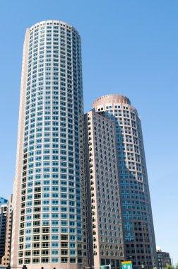 Boston city - 7 Sep - panorama with skyscrapers