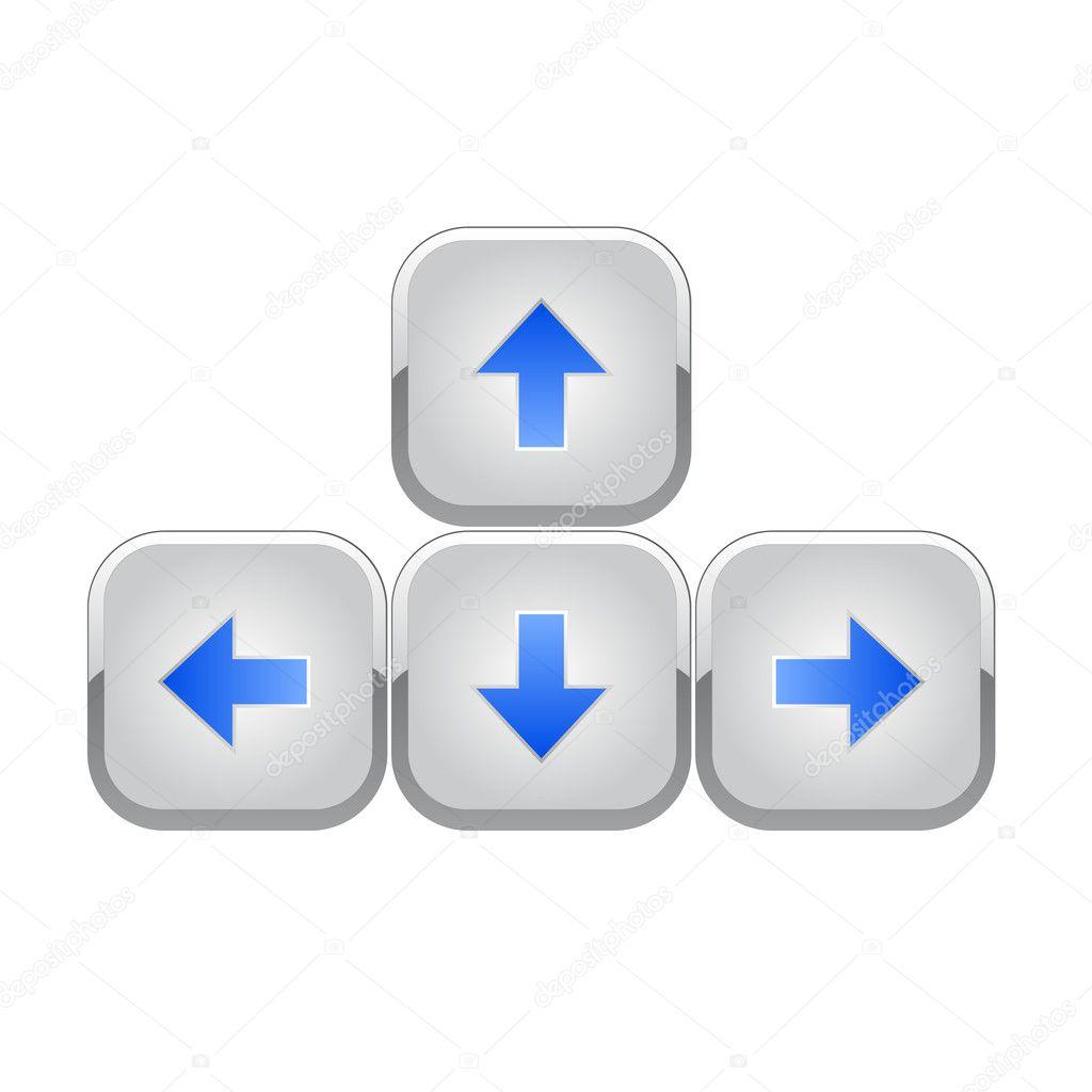 как сделать стрелку вниз и вверх на клавиатуре