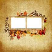 Grungy frame on shabby background