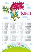 Fényképek 2011 naptár tündér édes.