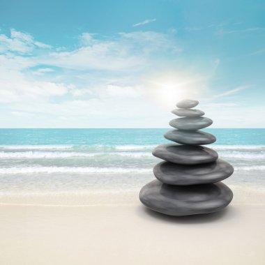 Pebble stones on beach
