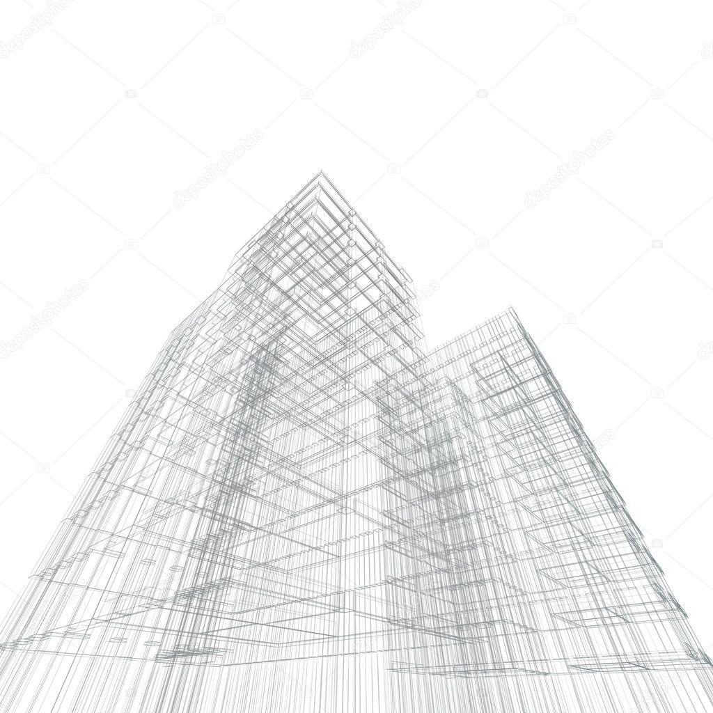 Architecture Blueprints Skyscraper architecture blueprint — stock photo © 1xpert #4432865