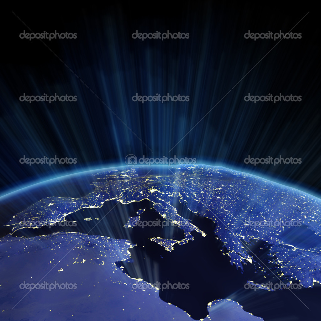 Europe relief from space