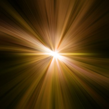 Gold rays. Rays abstract background stock vector