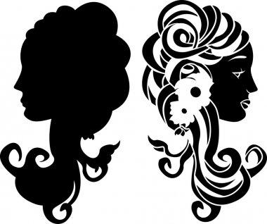 Female head stencil
